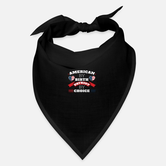 Gift Idea Caps - American By Birth Patriot By Choice - Bandana black