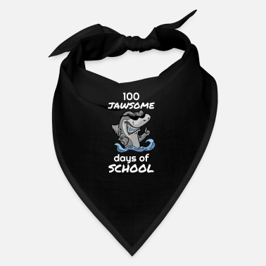 Happy Childrens Day 100 days jawsome days of school shark children - Bandana