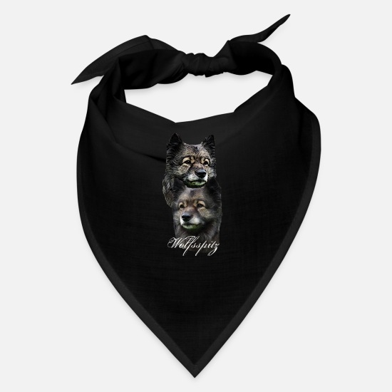 Dog Head Caps - Dog,dog head,dog face,dog face dog head dog breed - Bandana black