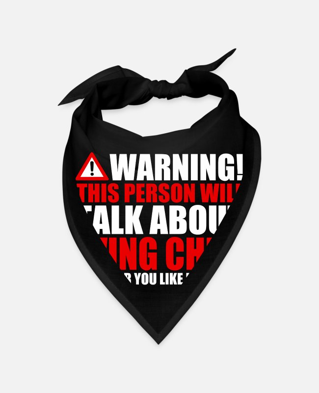 Warning Bandanas - Warning Wing Chun speaks funny - Bandana black