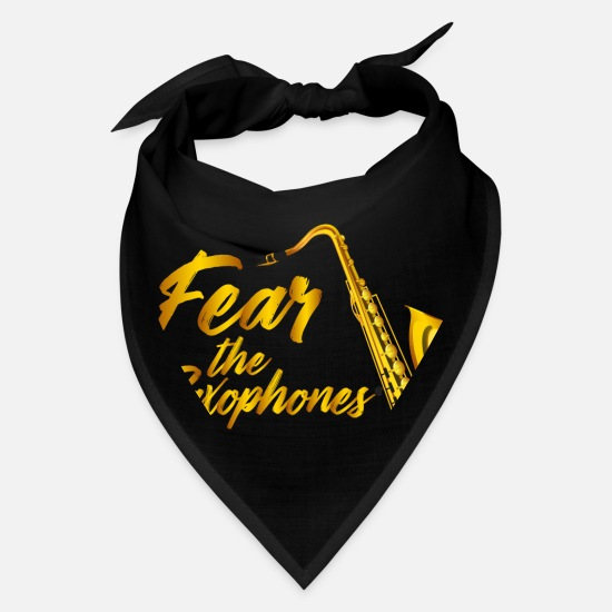 Fear Caps - Sax product - Fear The - Saxophone Player Gifts - Bandana black