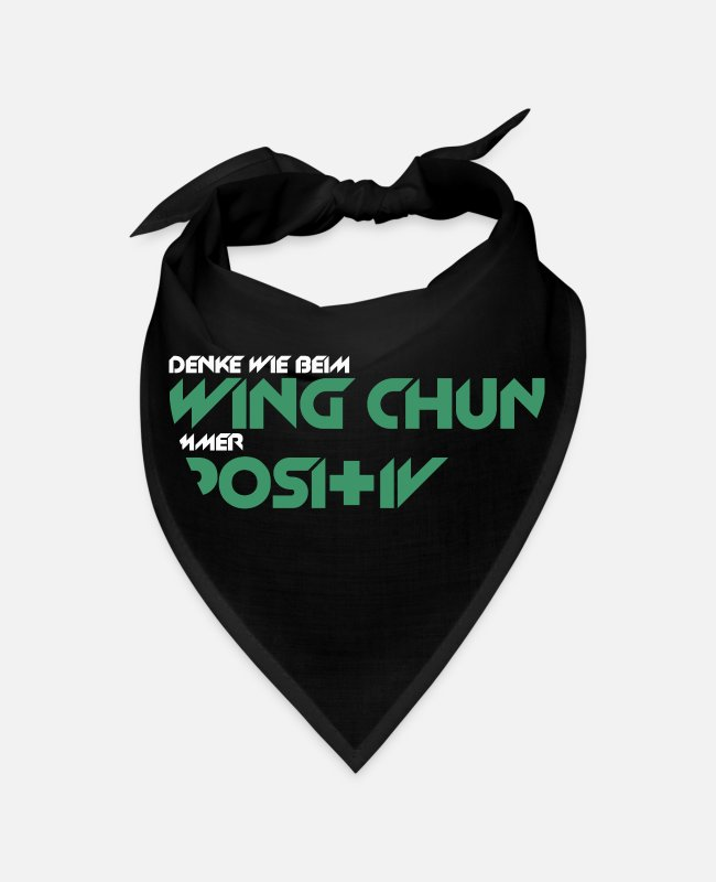 Molecule Bandanas - Think like Wing Chun Positive - Bandana black