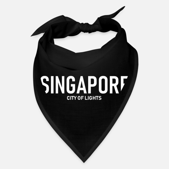 Singapore Caps - Singapore - City of Lights - Asia - Bandana black