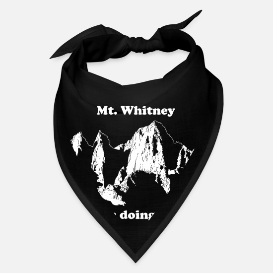 Mount Caps - Mt. Whitney T-Shirt - Bandana black