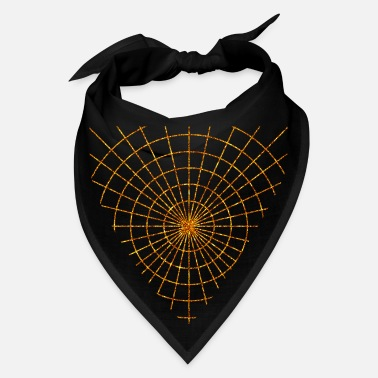 Grid Golden Spider web luster gold in black color - Bandana