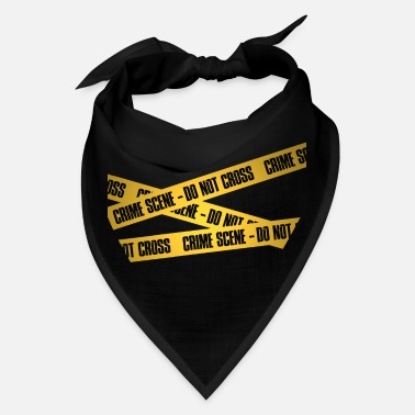 Scene Crime Scene Do not Cross Funny Shirt Police CSI - Bandana