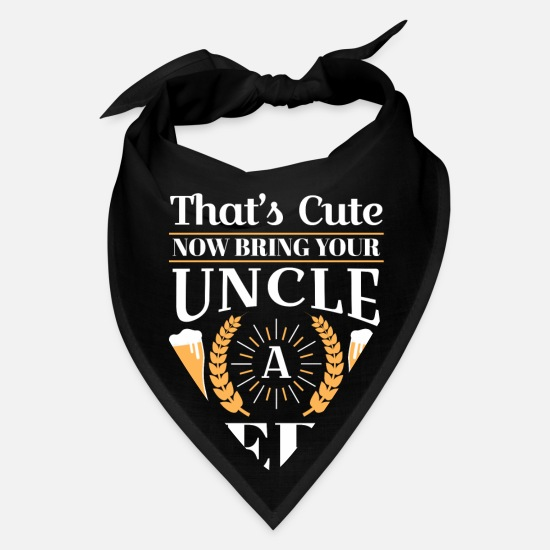 Halloween Caps - That's cute now bring your uncle a beer - Bandana black