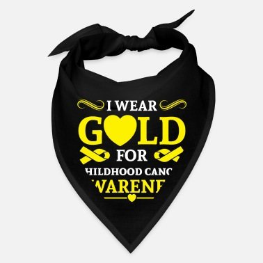 Childhood I wear Gold for childhood cancer awareness - Bandana