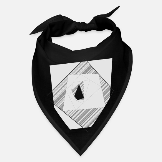 Image Caps - Abstract geometrical tunnel - Bandana black