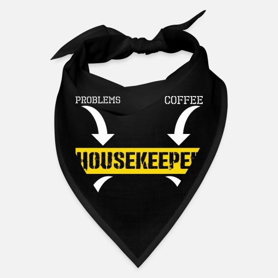 Side Caps - Problems Solution Coffee Sarcasm Housekeeper - Bandana black