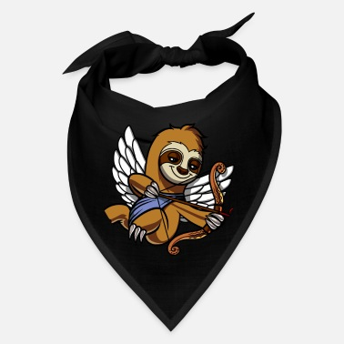 Funny Valetines Day Sloth Cupid Valetines Day Cute Animal - Bandana