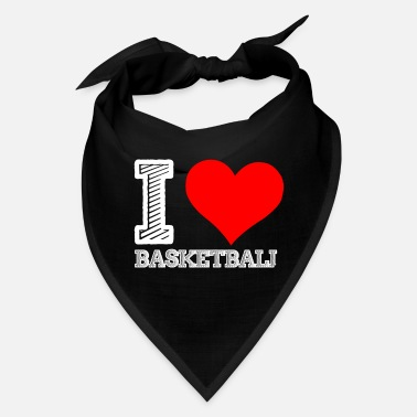 I Love I love Basketball - Bandana