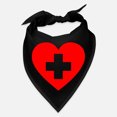 1234code FIRST AID HEART - Bandana