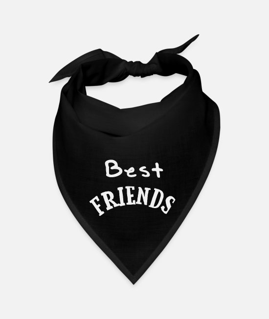 Quote Bandanas - Best friends - Bandana black