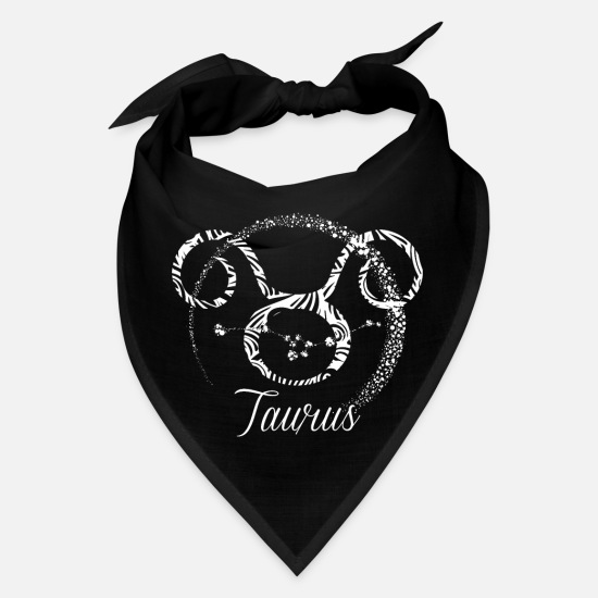 Taurus Caps - Taurus Zodiac Sign - Horoscope Birthday Gift - Bandana black
