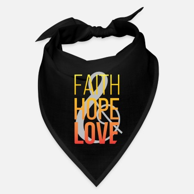 Faith Faith Hope Love Christian Design - Bandana