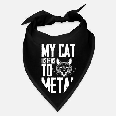 Headbang metal cat music black death core headbanger heavy - Bandana