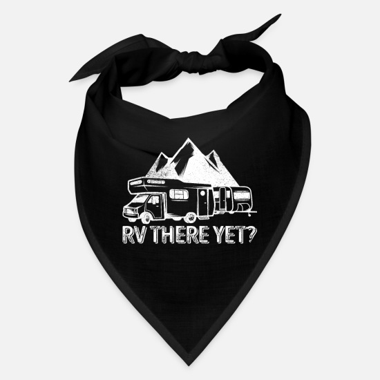 Camping Caps - RV There Yet Camping Gift Recreational Vehicle - Bandana black