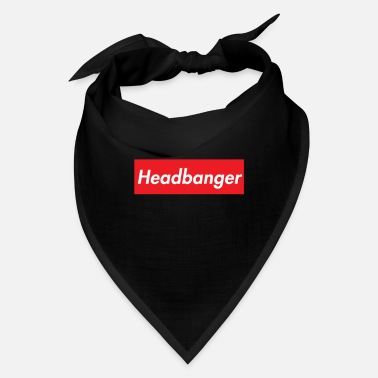 Headbang Headbanger Red Box Logo - Bandana