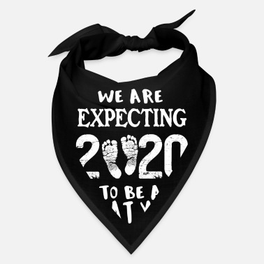 Expecting Pregnancy Reveal Baby Announcement New Year 2020 - Bandana