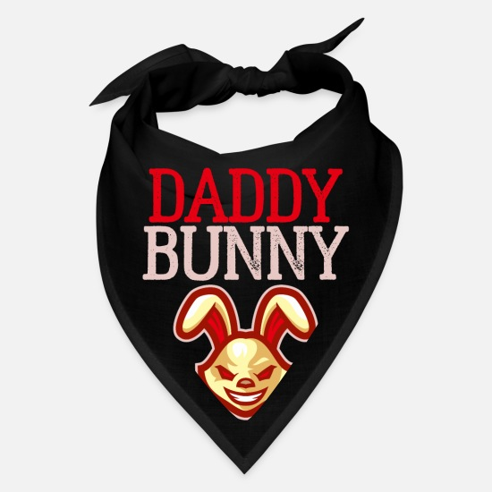 Matching Family Caps - Daddy Bunny - Bandana black