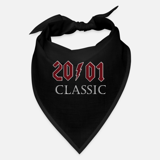 Classic Caps - Top 2001 Birthday Rock Classic Gift Design - Bandana black
