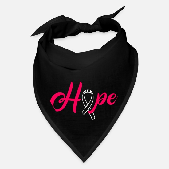 Breast Caps - Hope Cancer Inspirational Motivational Gift Souven - Bandana black