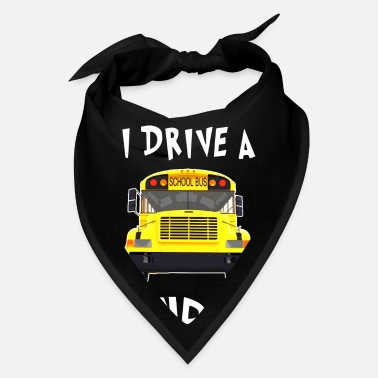 Drive Go By Car i drive a school bus and car studen drive car bus - Bandana