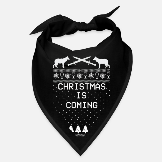 Anniversary Caps - Christmas is Coming X-mas Ugly Christmas - Bandana black