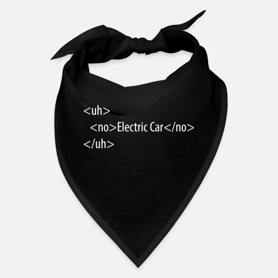 Minimalist Caps - HTML Code No Electri Car Uh No - Bandana black