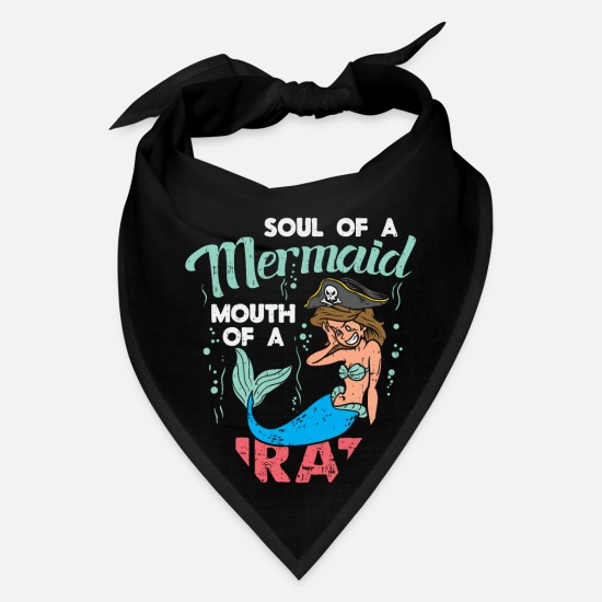 Carneval Caps - Funny Pirate Design I Soul of a Mermaid Costume - Bandana black