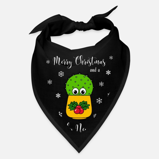 Cactus Caps - Merry Christmas And A Prickly New Year - Cute - Bandana black