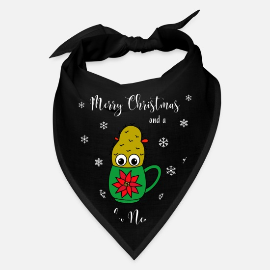 Cactus Caps - Merry Christmas And A Prickly New Year - Small - Bandana black