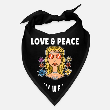 80s Hippie Love Peace colorful gift - Bandana