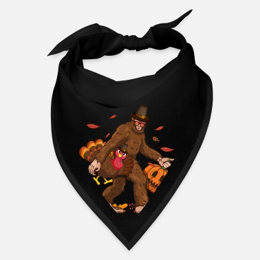 Bigfoot Thanksgiving Day Funny Bigfoot Thanksgiving Day Turkey Costume - Bandana