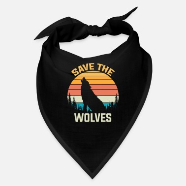 Save The Wolves Animal Rights Activist Gift Wolf - Bandana