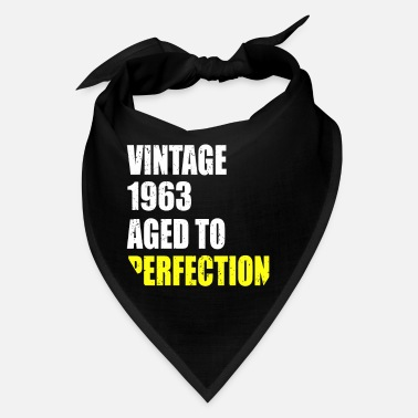 Made In 1963 Vintage 1963 aged to perfection 58 birthday gift - Bandana