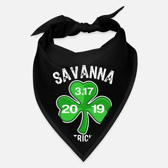 St Patricks Day Caps - Best Paddys Day Savanna Design 19 - Bandana black