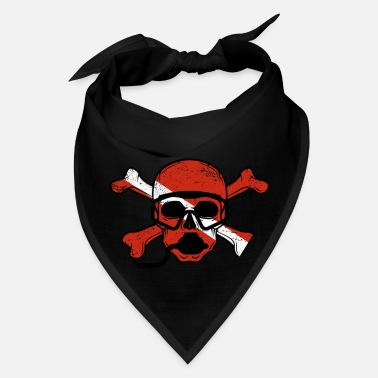 Scuba Diving Vintage Distressed Pirate Scuba Diving Flag - Bandana