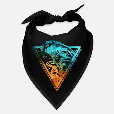 Inverted Triangle Triangle with sea waves - Bandana
