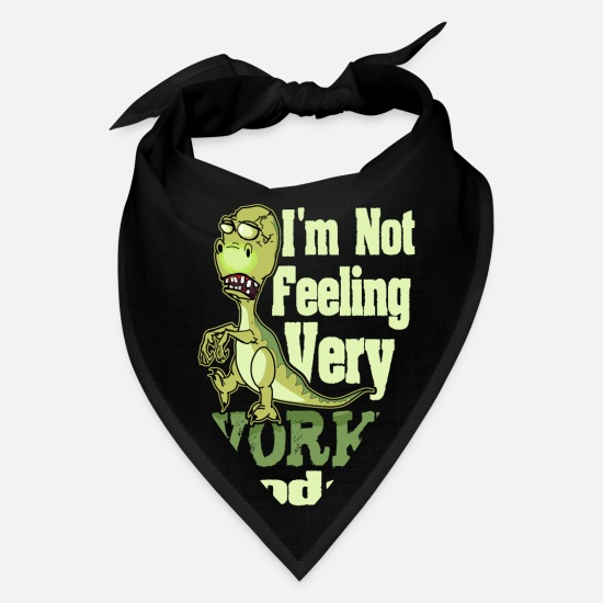 Sayings Caps - Funny Saying T Rex Dinosaur Zombie - Bandana black