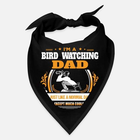 Dad Caps - Bird Watching Dad Shirt Gift Idea - Bandana black