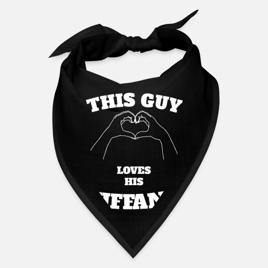 Tiffany Caps - This Guy Loves His Tiffany Valentine Day Gift - Bandana black