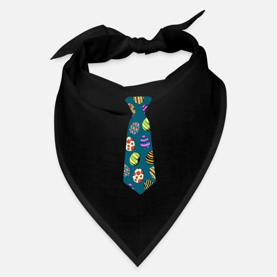 Easter Caps - Cute Easter Eggs Necktie Funny Pascha Holiday Gift - Bandana black