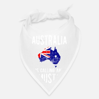 Commonwealth Of Australia Australia is calling and I must go in Blue and Red - Bandana