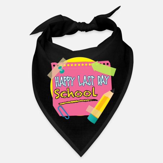 School Caps - Last Day Of School - Bandana black