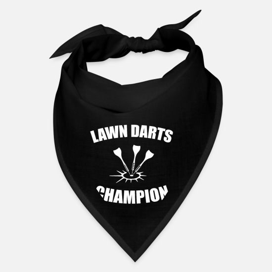 Game Caps - Lawn Darts Champion Backyard Front Lawn Sports - Bandana black