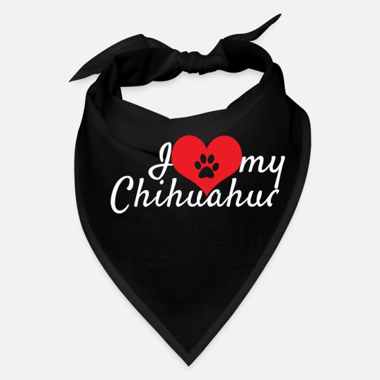 Animal Caps - Chihuahuas - Bandana black
