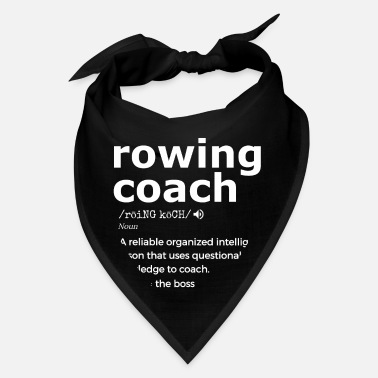 Rower Rowing Coach Graphic, Gift For Rowing Coaches - Bandana