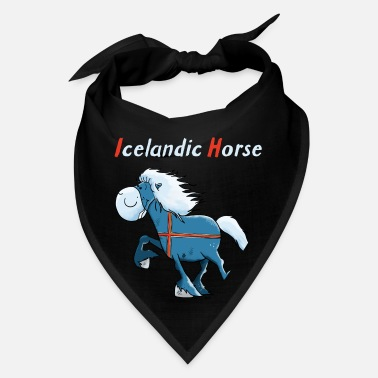 Horse Breed Blue Icelandic Horse - Cartoon - Gift - Funny - Bandana